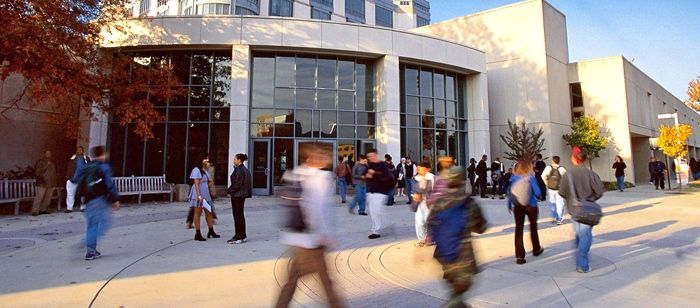 UMBC's A.O. Kuhn Library is one of the centers of student life
