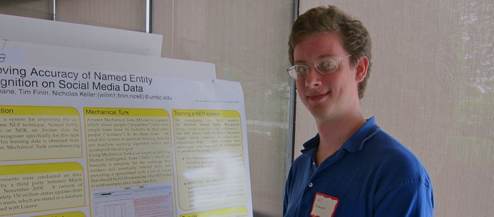 MS student WIll Murnane presents his work on named entity recognition in Twitter at the 2010 CSEE Research Review