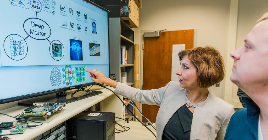 UMBC CSEE Professor Tinoosh Mohsenin discusses her research on developing low power DSP and machine learning algorithms for personalized health monitoring and assistive devices